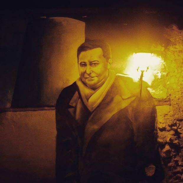 Mural de Claudio Rodríguez en el Mirador del Troncoso