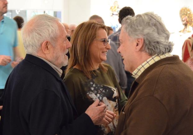 """Antonio Pedrero y Coomonte en la inauguración de """"Cabezas"""" en la Biblioteca de Zamora"""