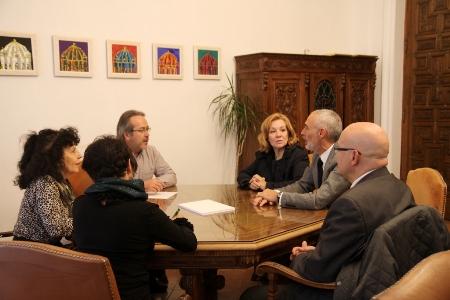 Reunión entre los responsables municipales y la Junta de Semana Santa. Foto: Ayuntamiento de Zamora