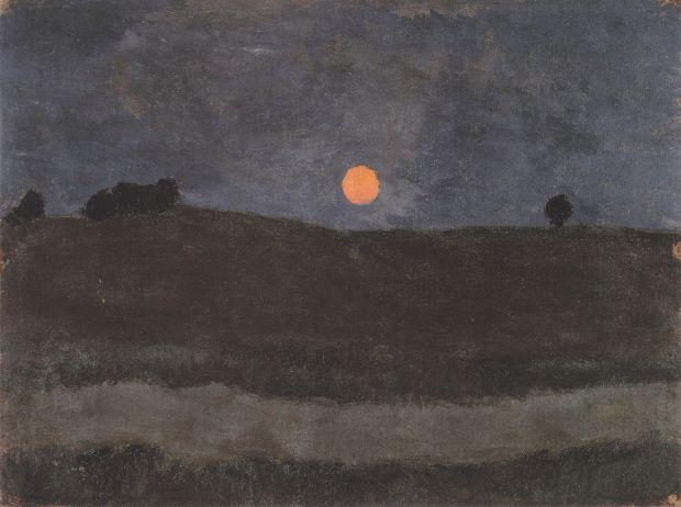 Modersohn-Becker - Mond über Landschaft. Fuente: Wikimedia Commons