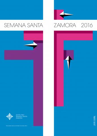 Cartel anunciador de la Semana Santa de Zamora 2016, de Tomás Crespo.