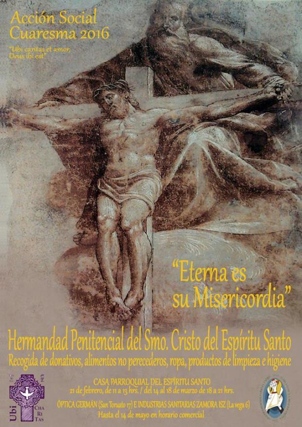 Cartel de la acción social de la Hermandad del Espíritu Santo
