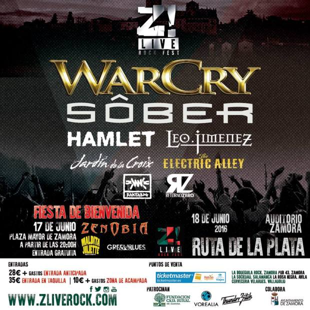 Cartel definitivo del Z! Live Rock