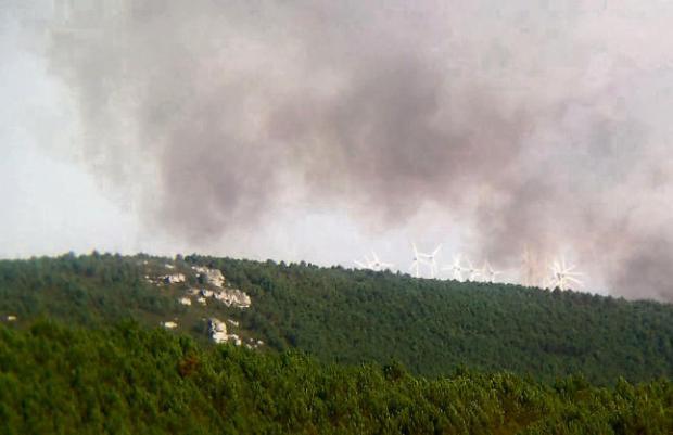 Fuego en la Sierra de la Culebra. Foto:  La Opinión de Zamora